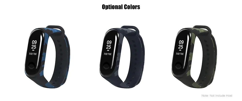 new xiaomi mi band 3 camouflage replacement watchband
