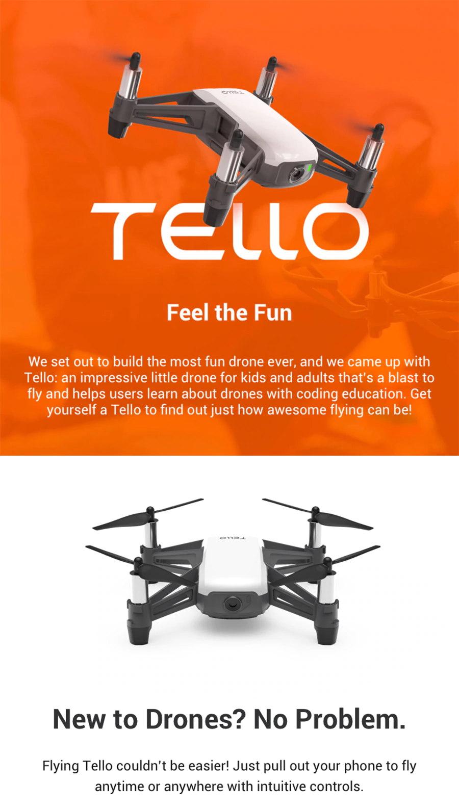 DJI Tello 720P WIFI FPV RC Drone with 5MP HD Camera