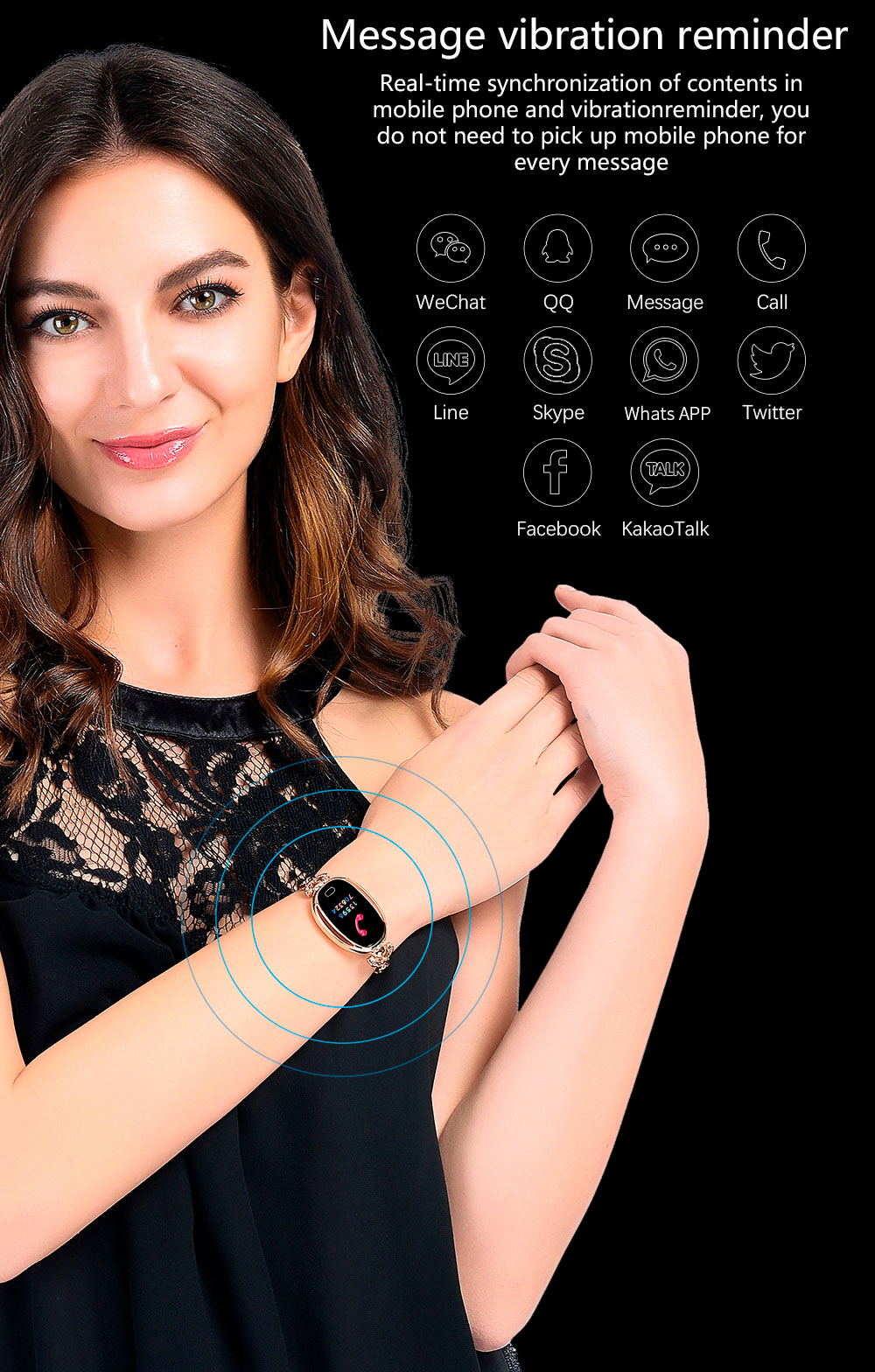 e68 smart bluetooth bracelet for sale