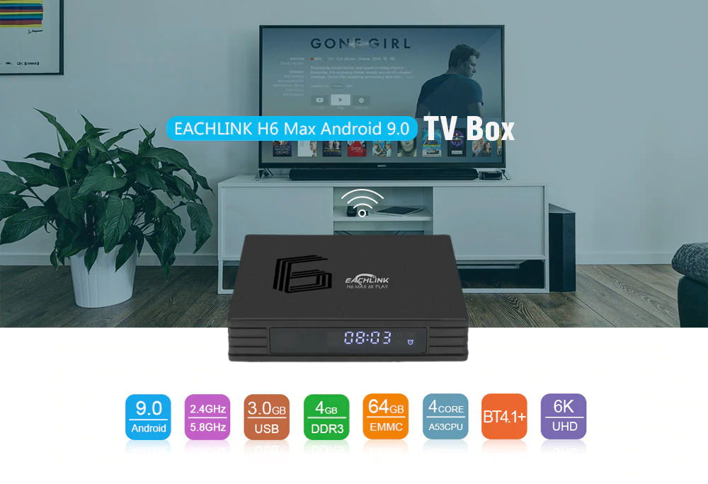 eachlink h6 max android 9.0 tv box