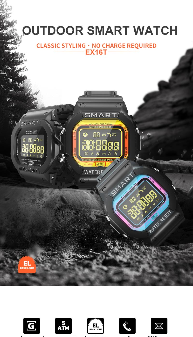ex16t bluetooth sport smartwatch