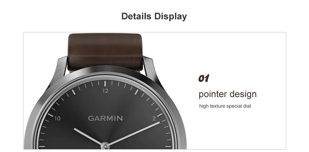 garmin vivomove hr classic smartwatch display