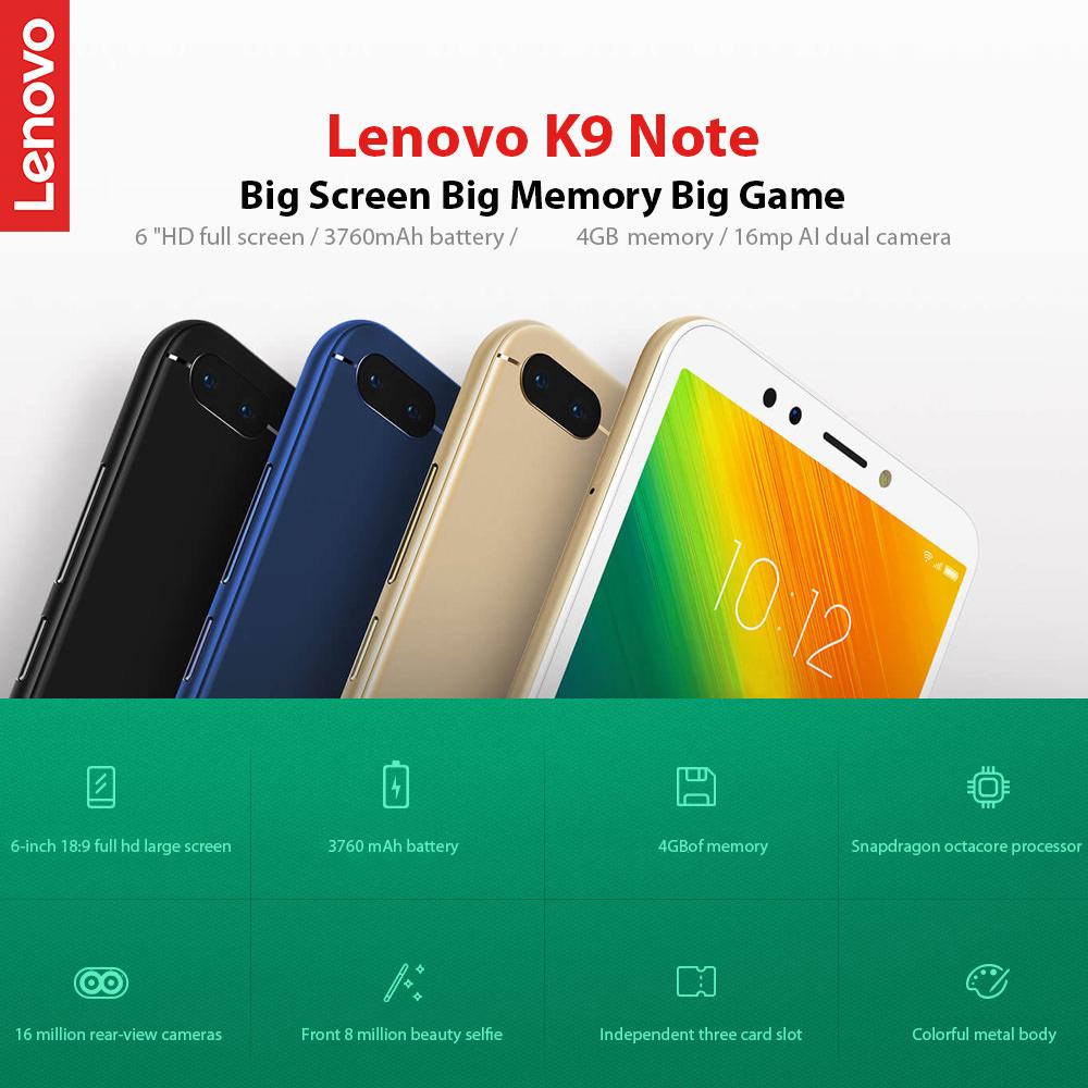 Lenovo K9 Note 4G Smartphone 4GB RAM 64GB ROM Global Version