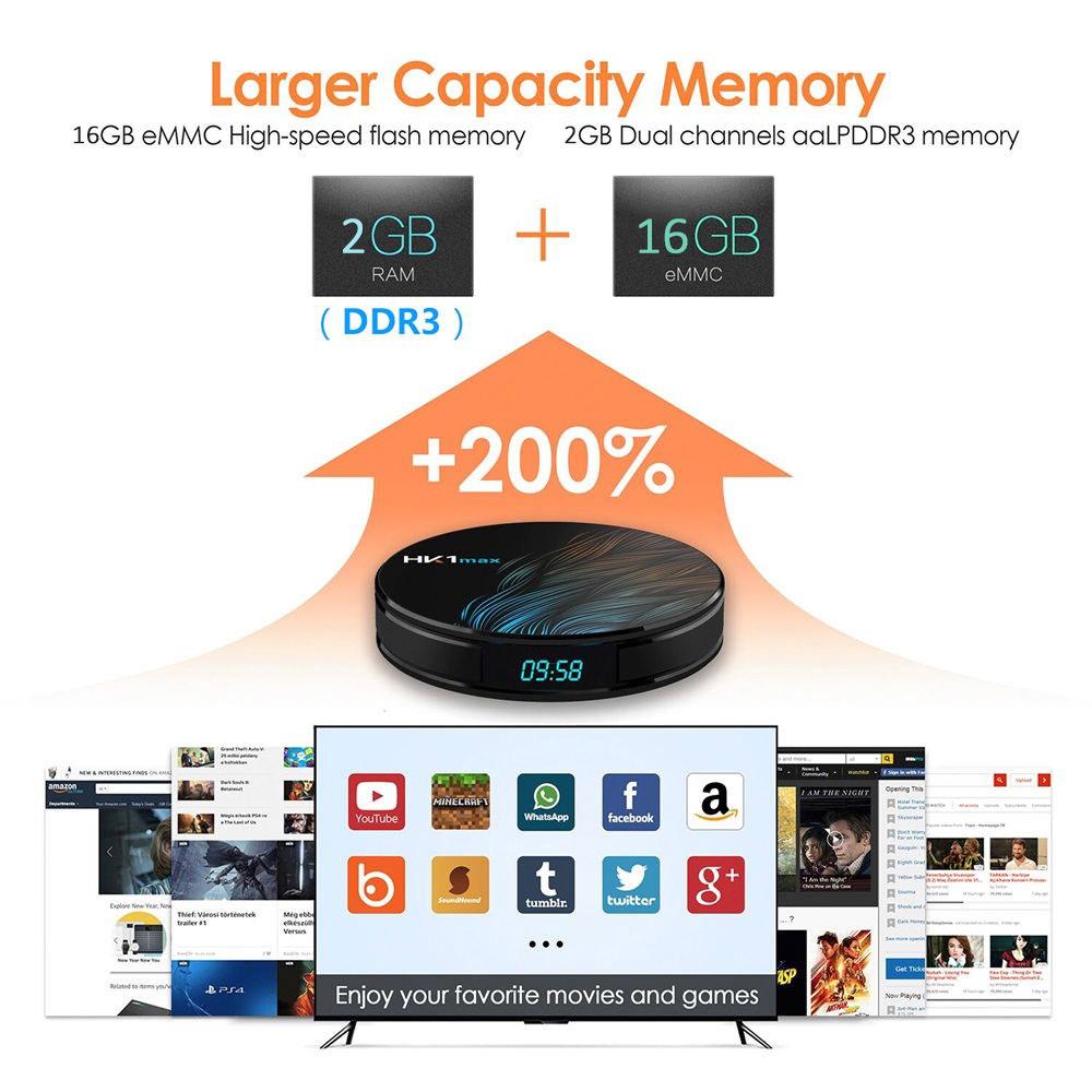 new hk1 max tv box 2gb/16gb