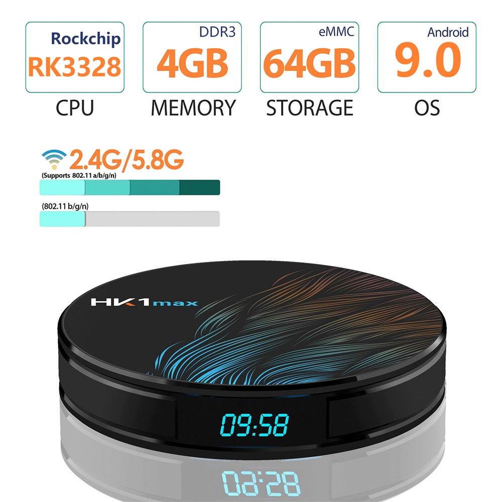 hk1 max tv box 4gb/64gb