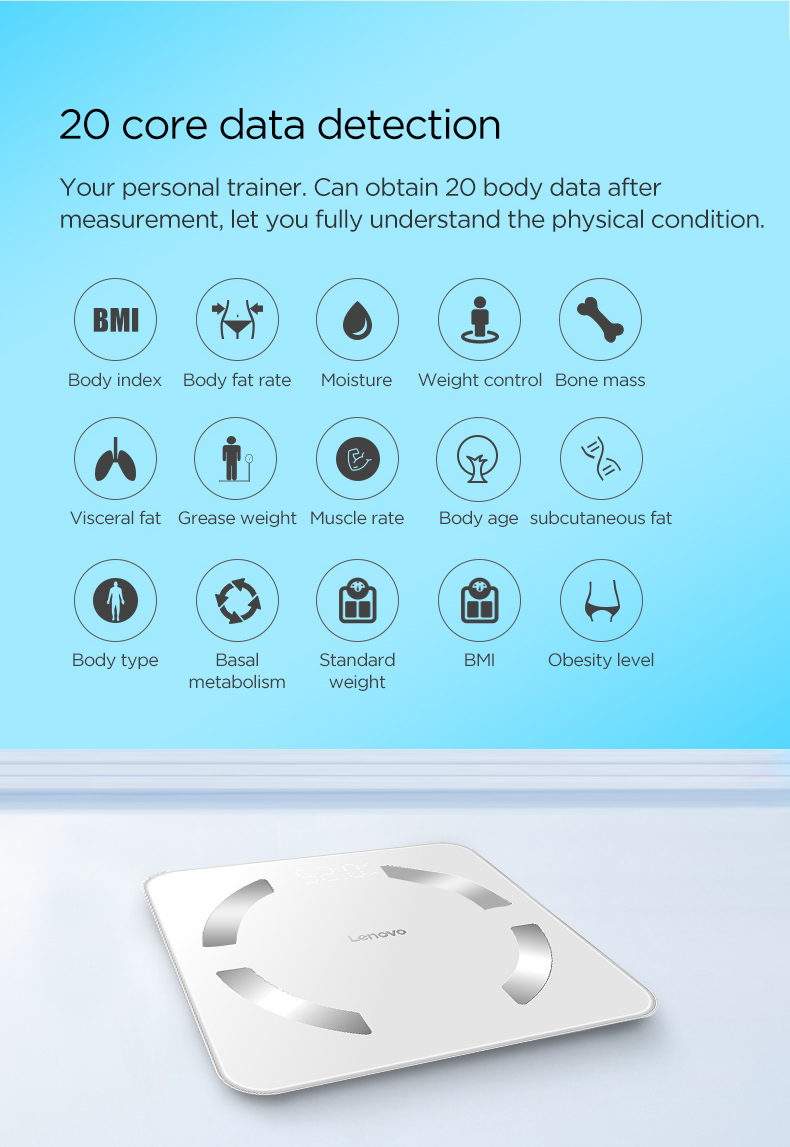 buy lenovo hs11 smart body fat scale