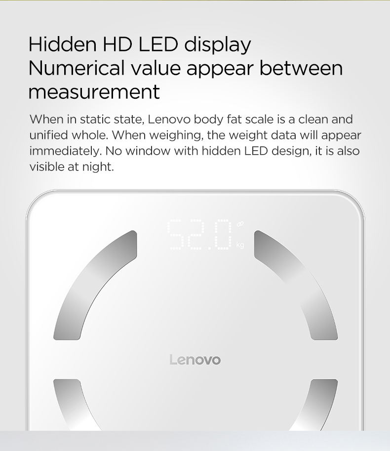 new lenovo hs11 body fat scale