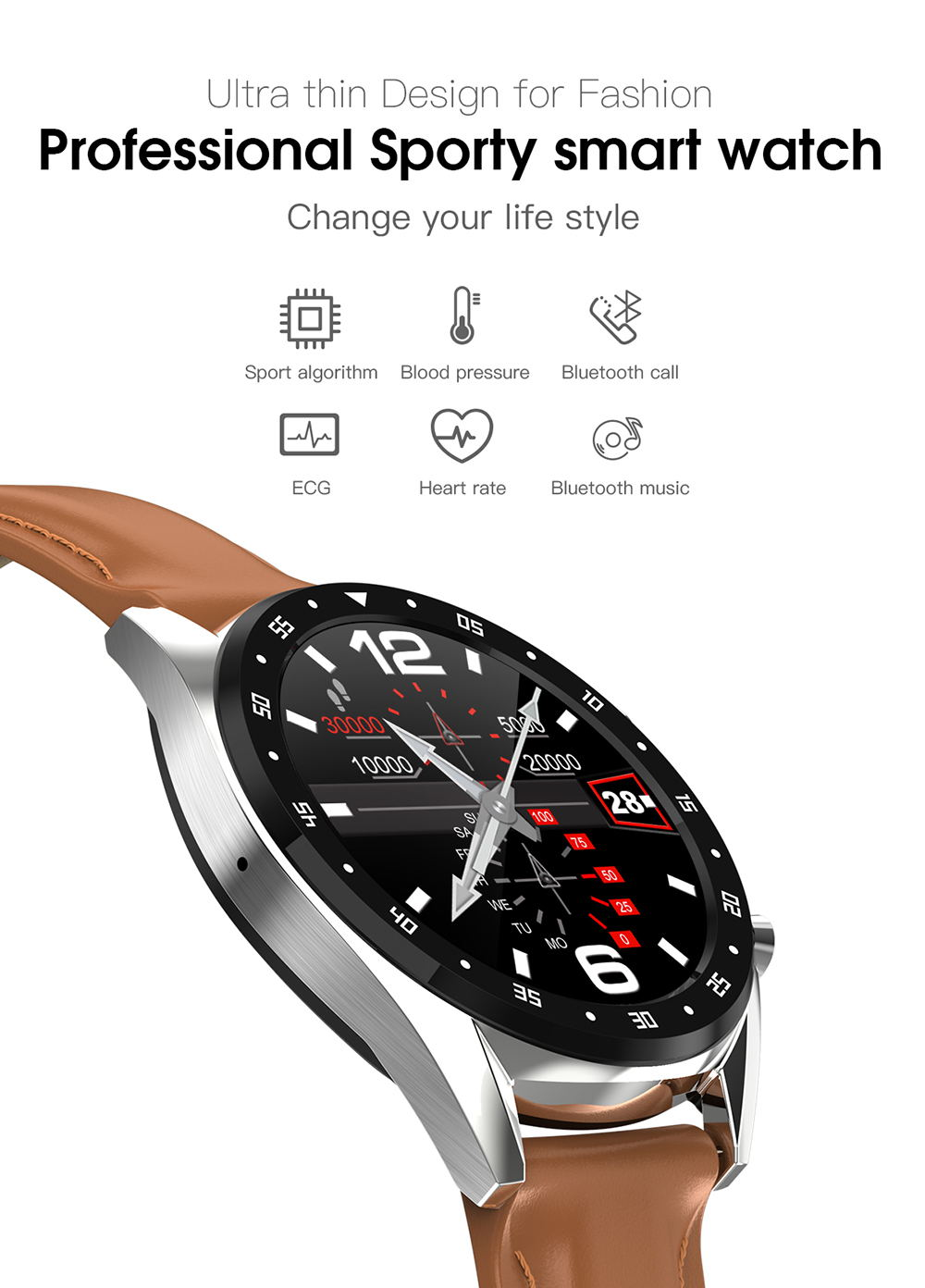 microwear l7 bluetooth smartwatch