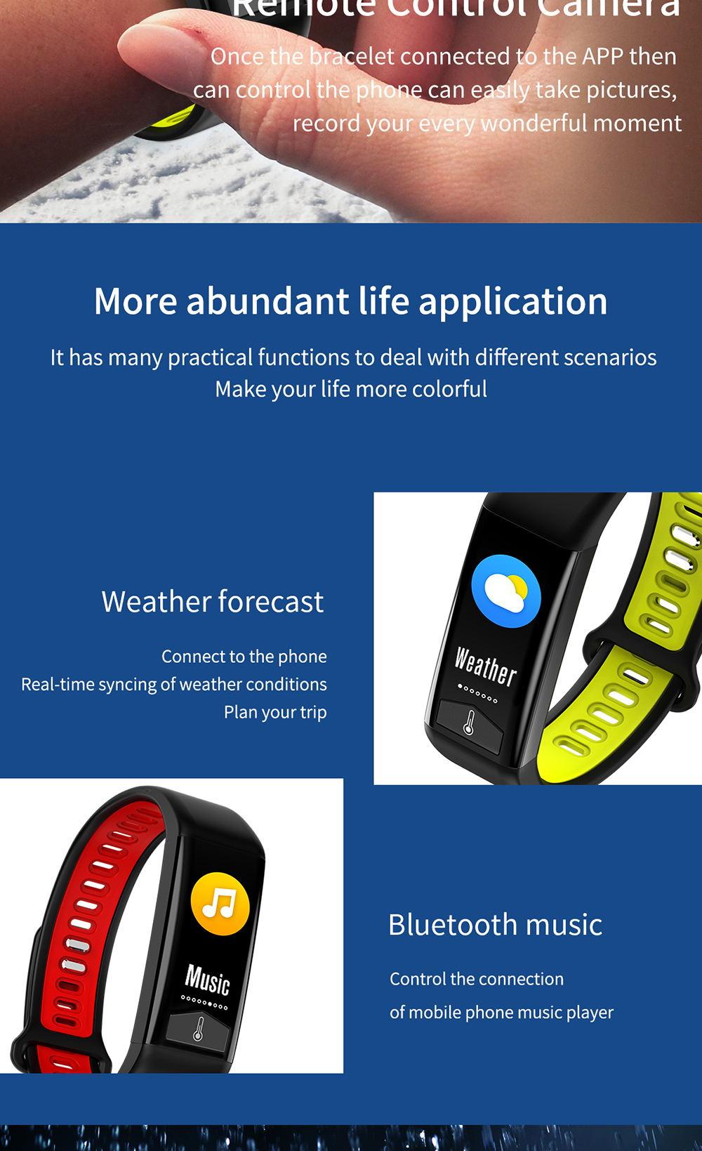 microwear t02 smart bracelet for sale