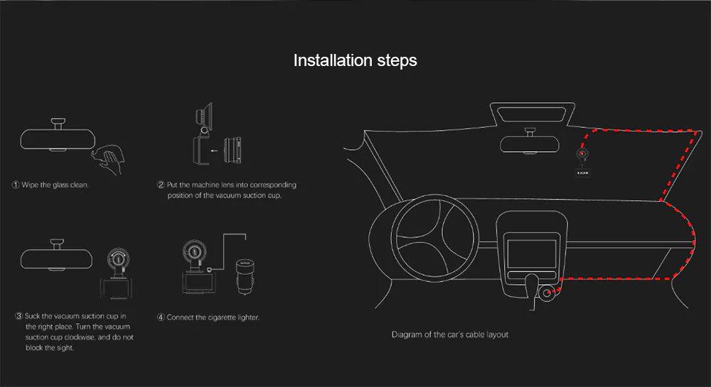 sjcam m30 dash cam dvr installation steps