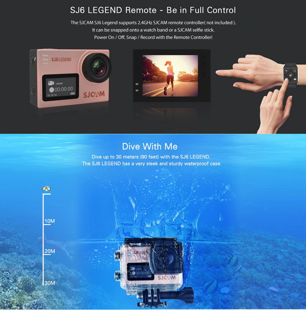 2019 sjcam sj6 legend action camera