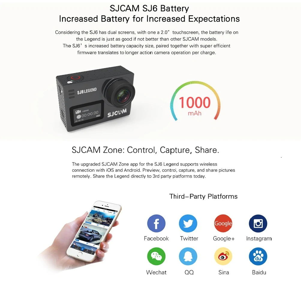 new sjcam sj6 legend 4k action camera