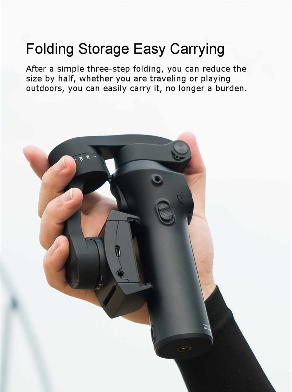 snoppa folding handheld stabilizer easy carrying