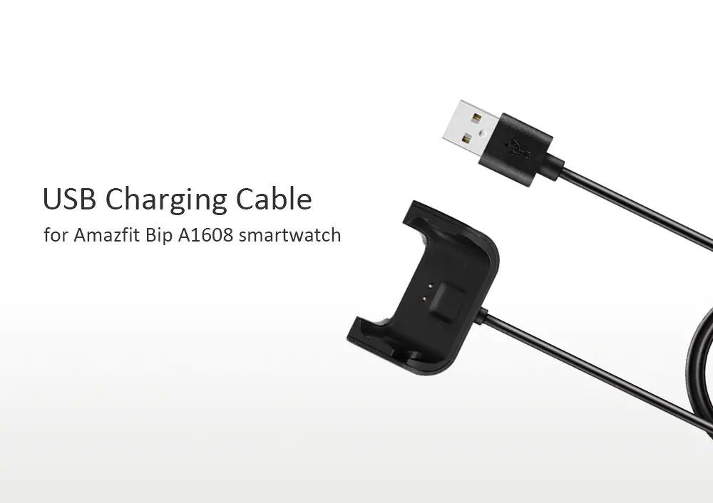 xiaomi amazfit bip smartwatch charging cable