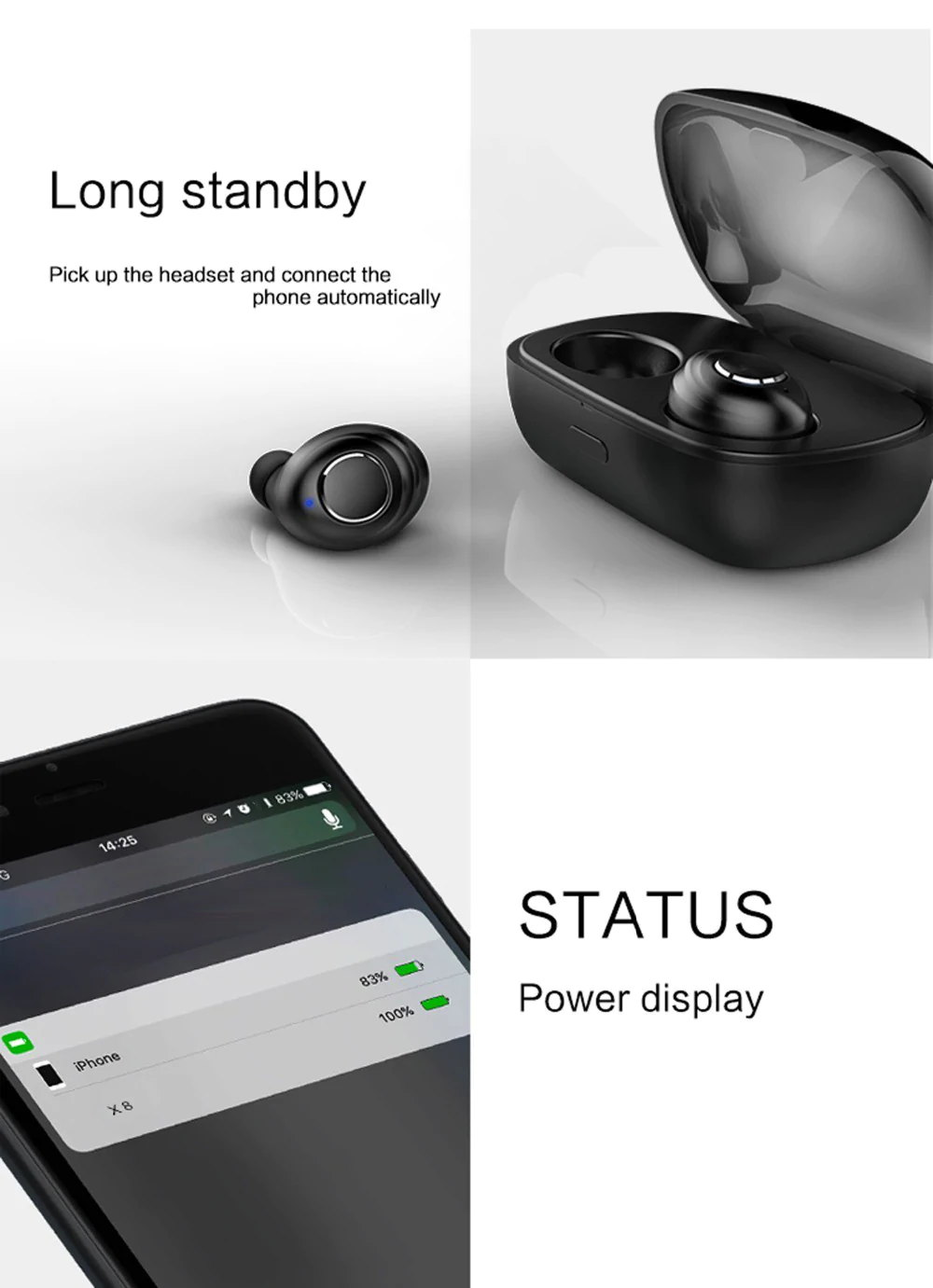 best x8 tws mini bluetooth earphones