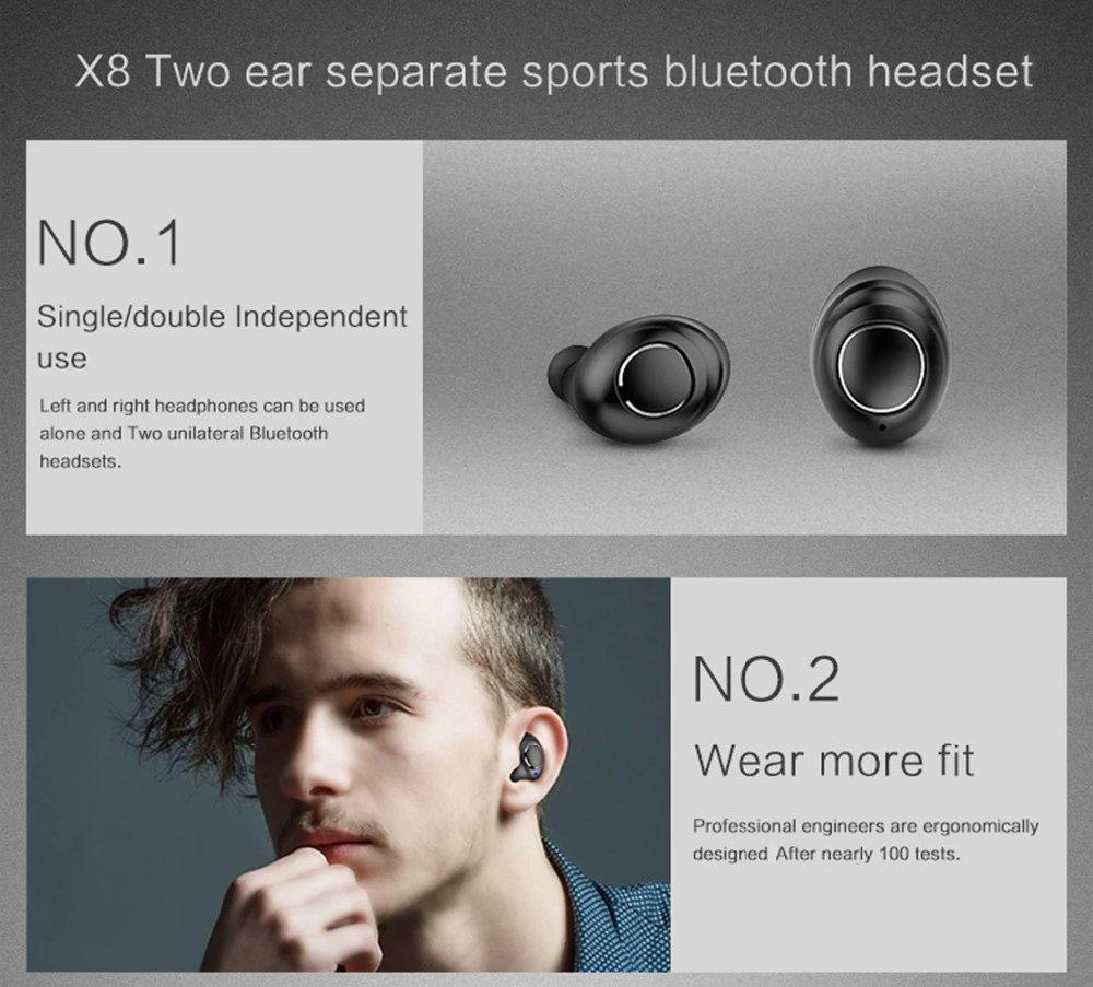 x8 tws mini bluetooth earphones