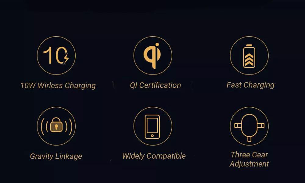 buy xiaomi 70mai 10w qi wireless car charger holder