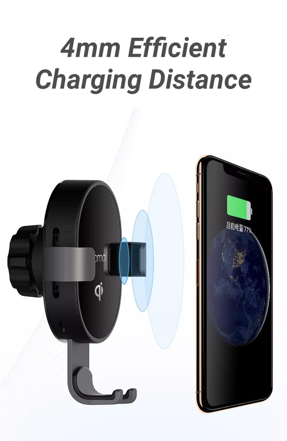 2019 xiaomi 70mai 10w qi wireless car charger holder