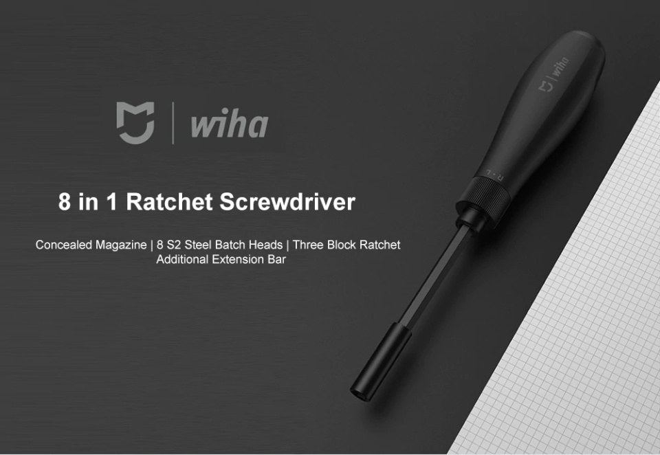 xiaomi mijia wiha 8 in 1 ratchet screwdriver