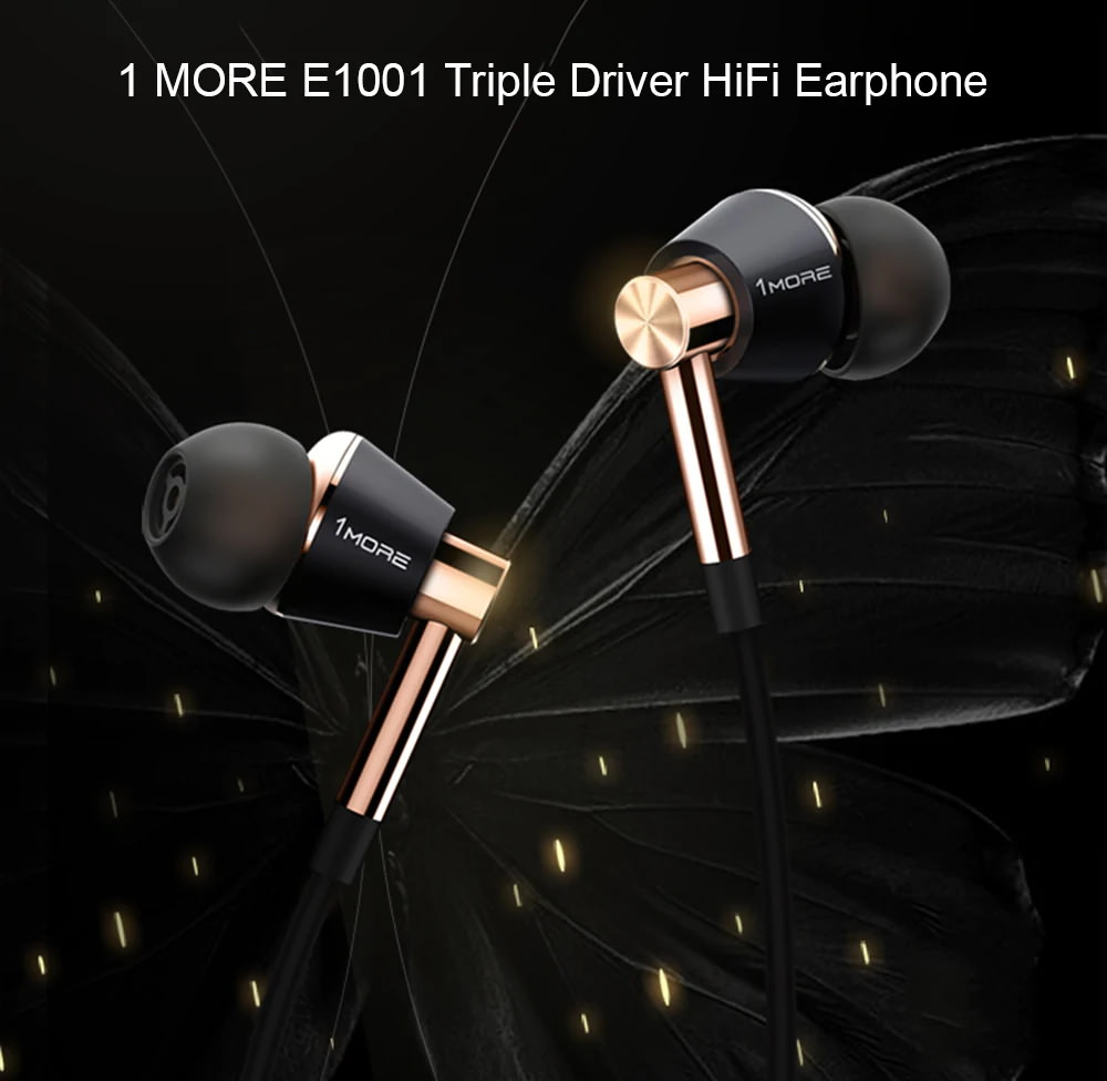xiaomi 1more e1001 triple driver hifi earphone