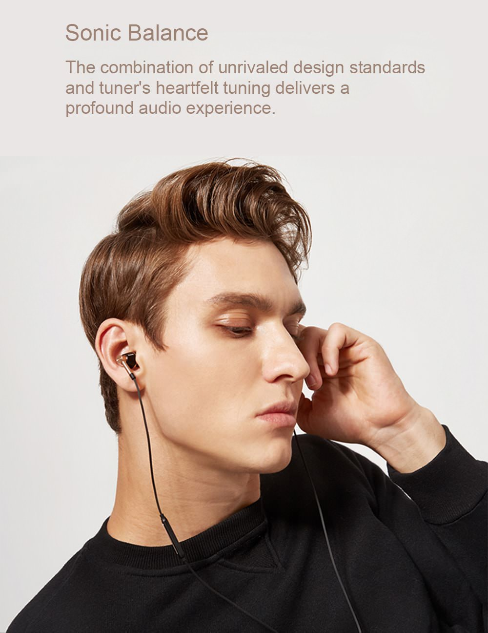 1more e1001 triple driver hifi earphone