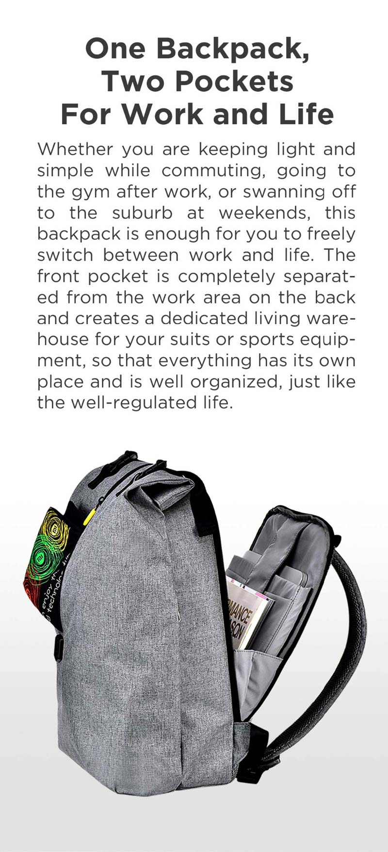 xiaomi 90fun leisure laptop backpack