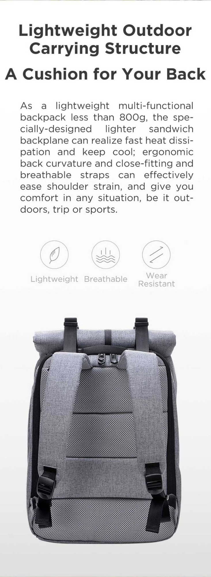 xiaomi 90fun leisure laptop backpack online