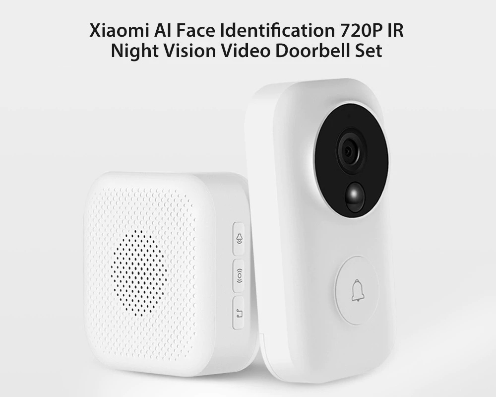 xiaomi ai face identification video doorbell set