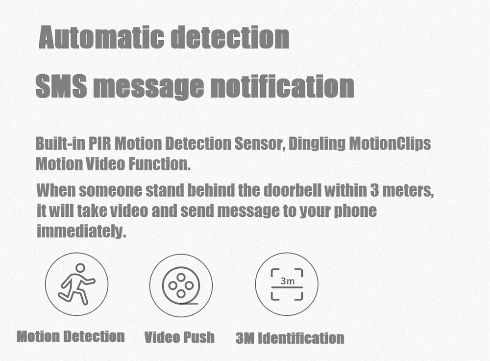 new xiaomi ai face identification video doorbell set