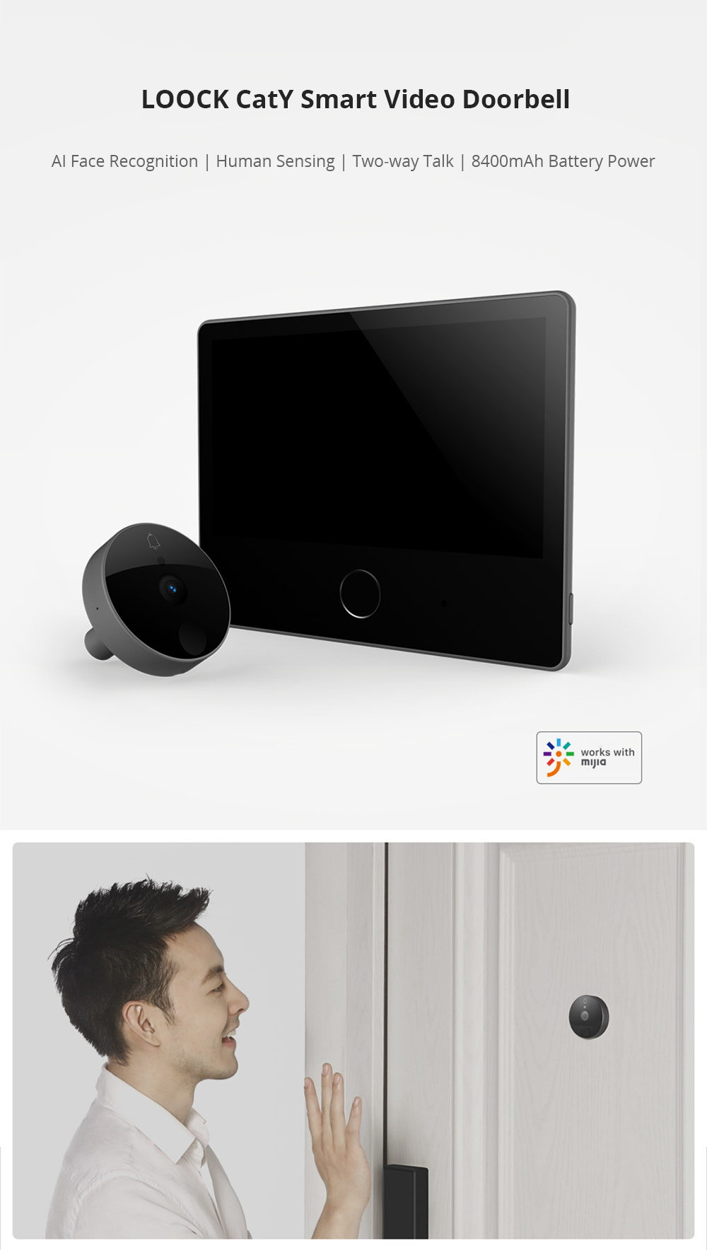 xiaomi loock caty lsc-y01 smart video doorbell