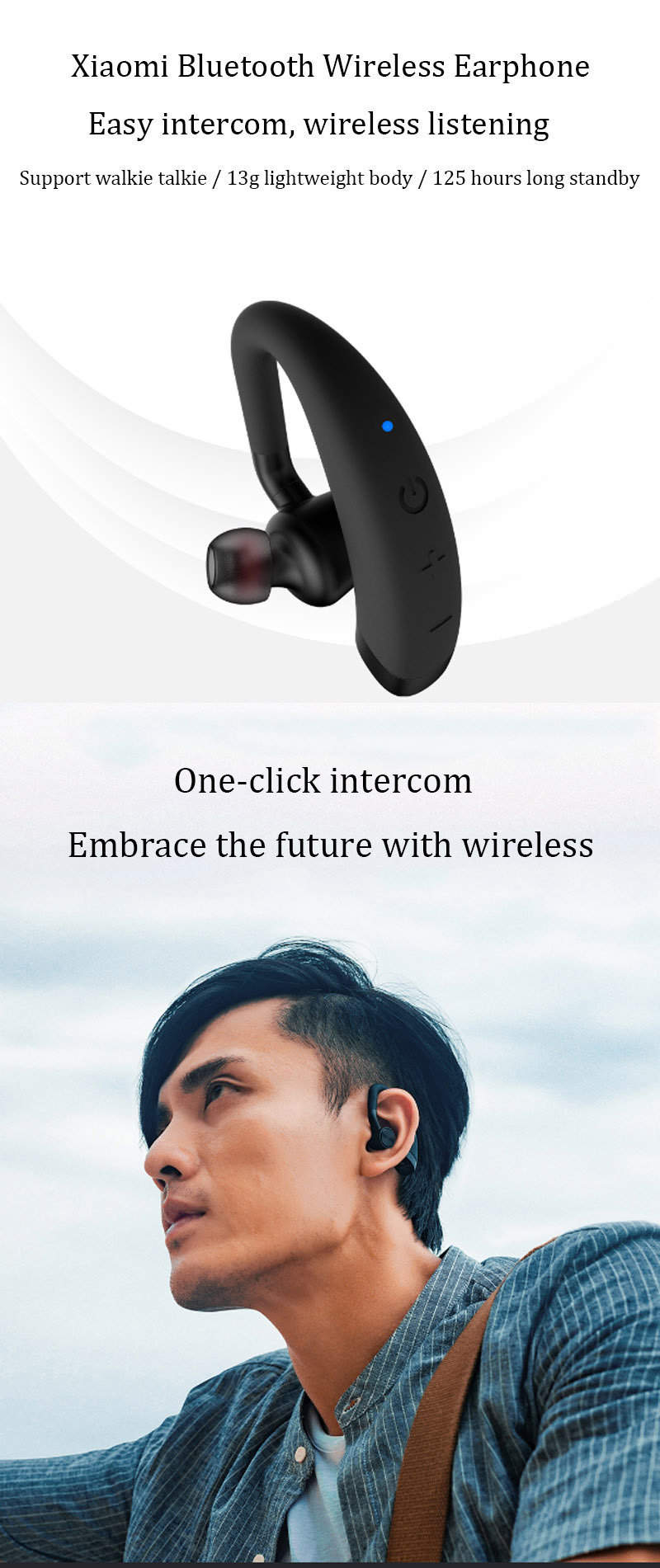 xiaomi mijia beebest bluetooth walkie talkie headset