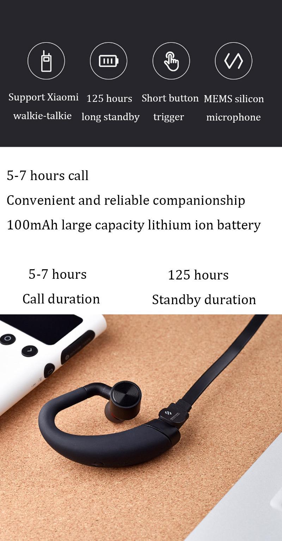 xiaomi mijia beebest walkie talkie headset