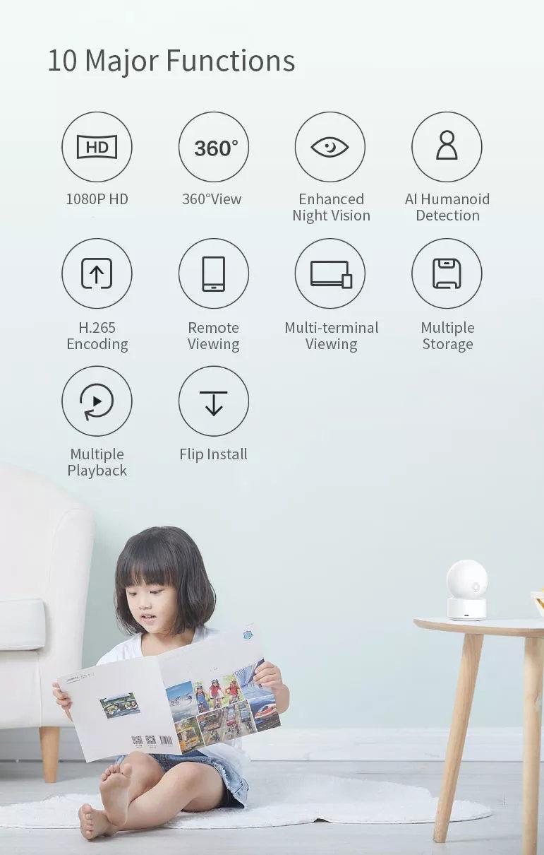 xiaomi xiaobai smart home wifi ip camera