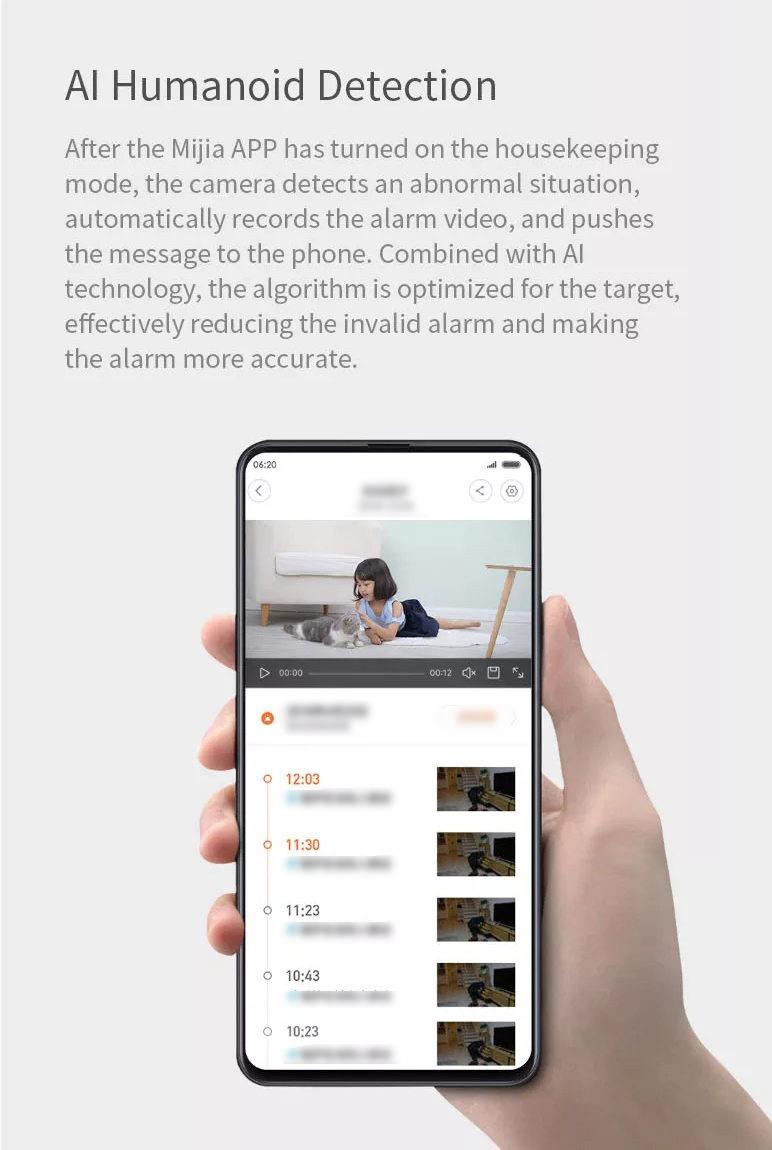 xiaomi mijia xiaobai smart home wifi ip camera online