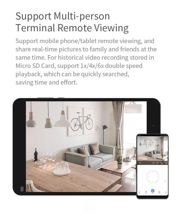 2019 xiaomi mijia xiaobai smart home wifi ip camera