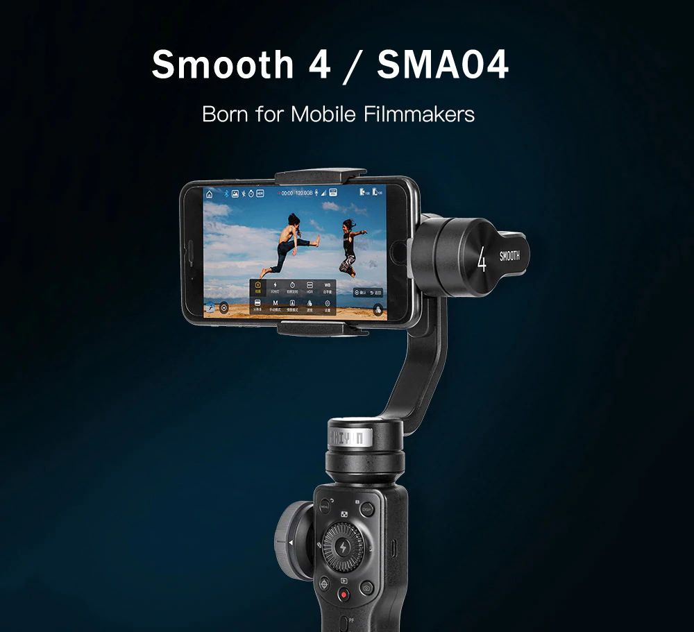 Zhiyun Smooth 4 estabilizador de cardán - nacido para cineastas móviles Zhiyun-Smooth-4-Brushless-3-Axis-Handheld-Gimbal-Stabilizer-1