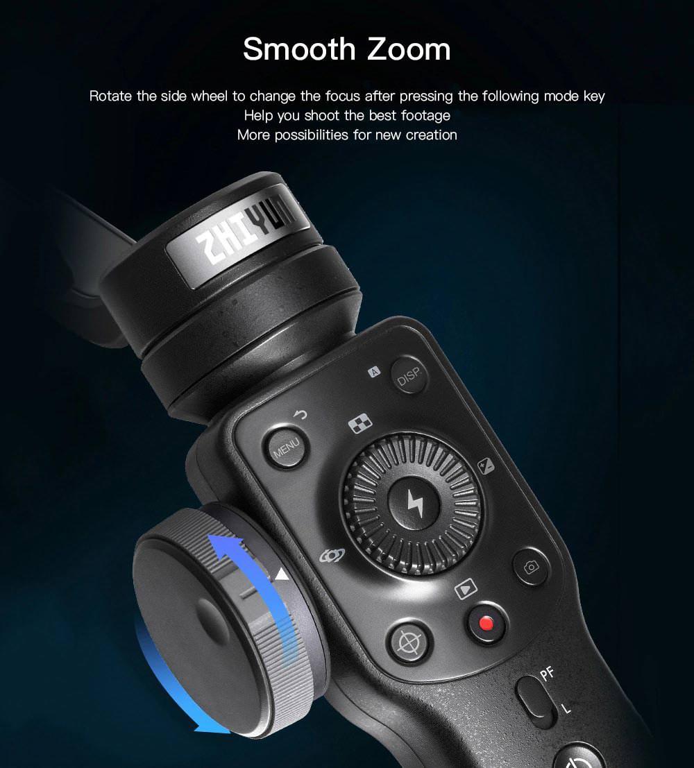 zhiyun smooth 4 brushless handheld gimbal stabilizer