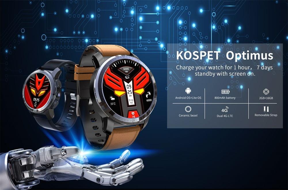 kospet optimus 4g smartwatch