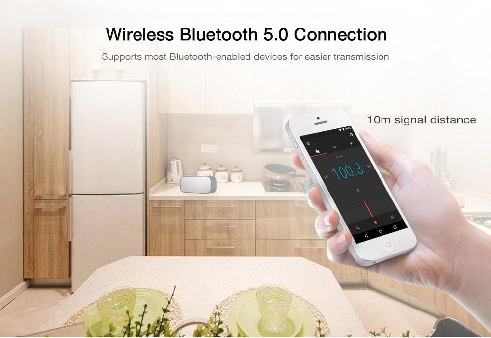 buy aec bt-501 alarm clock bluetooth speaker