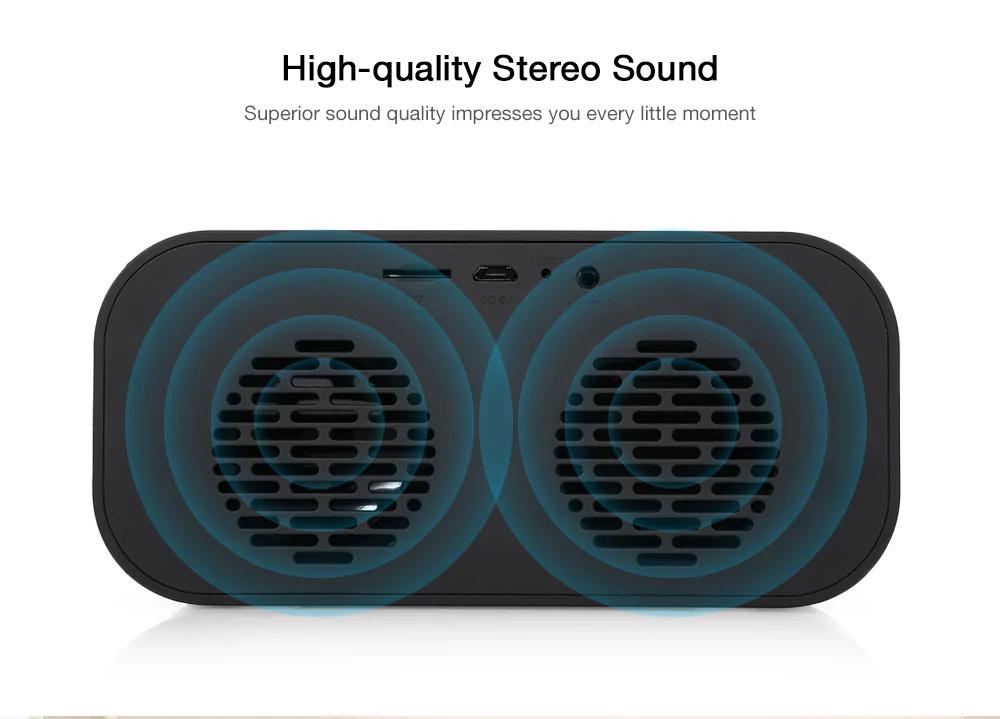 new aec bt-501 alarm clock bluetooth speaker