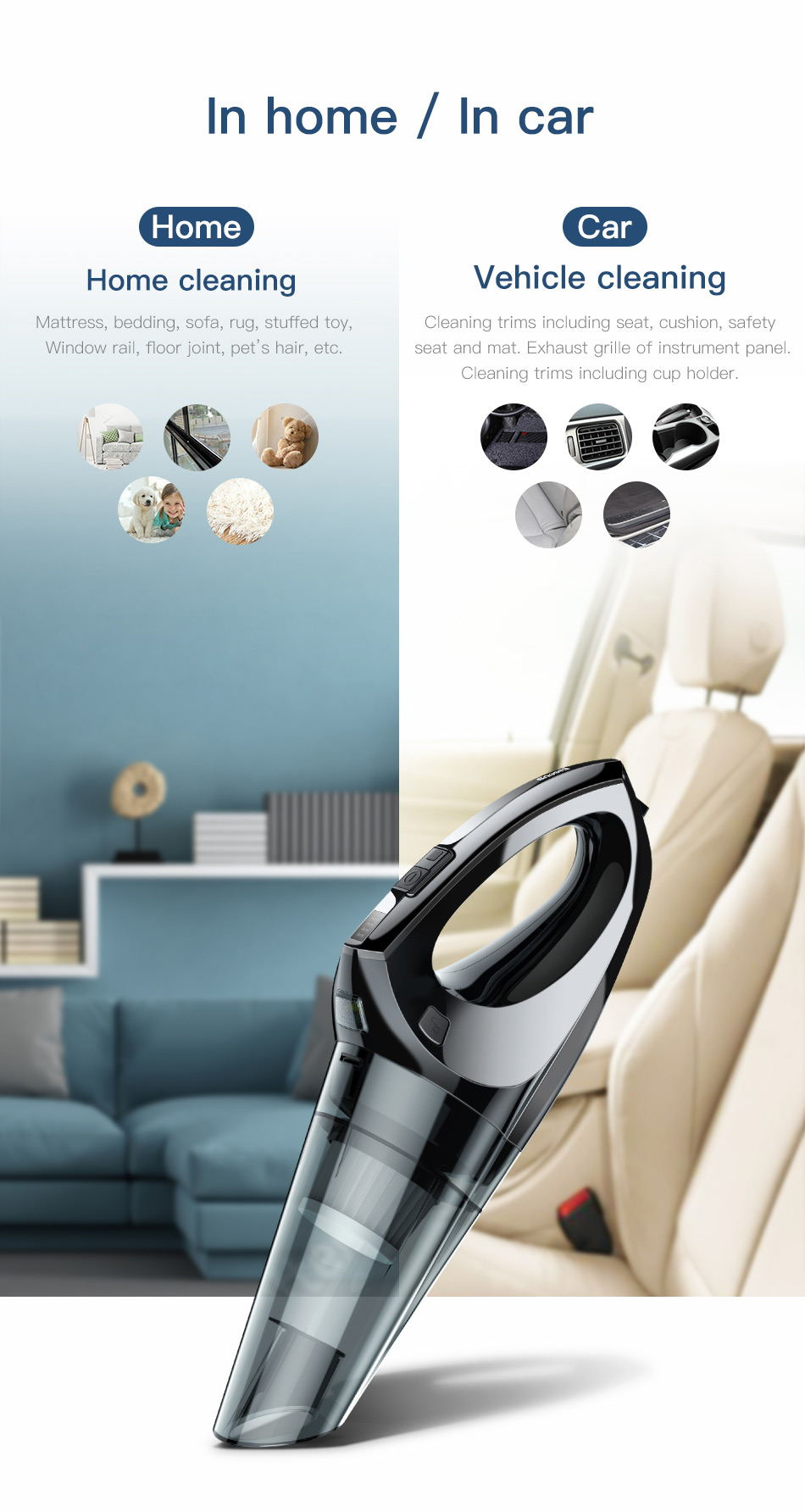 buy baseus h-501 car vacuum cleaner