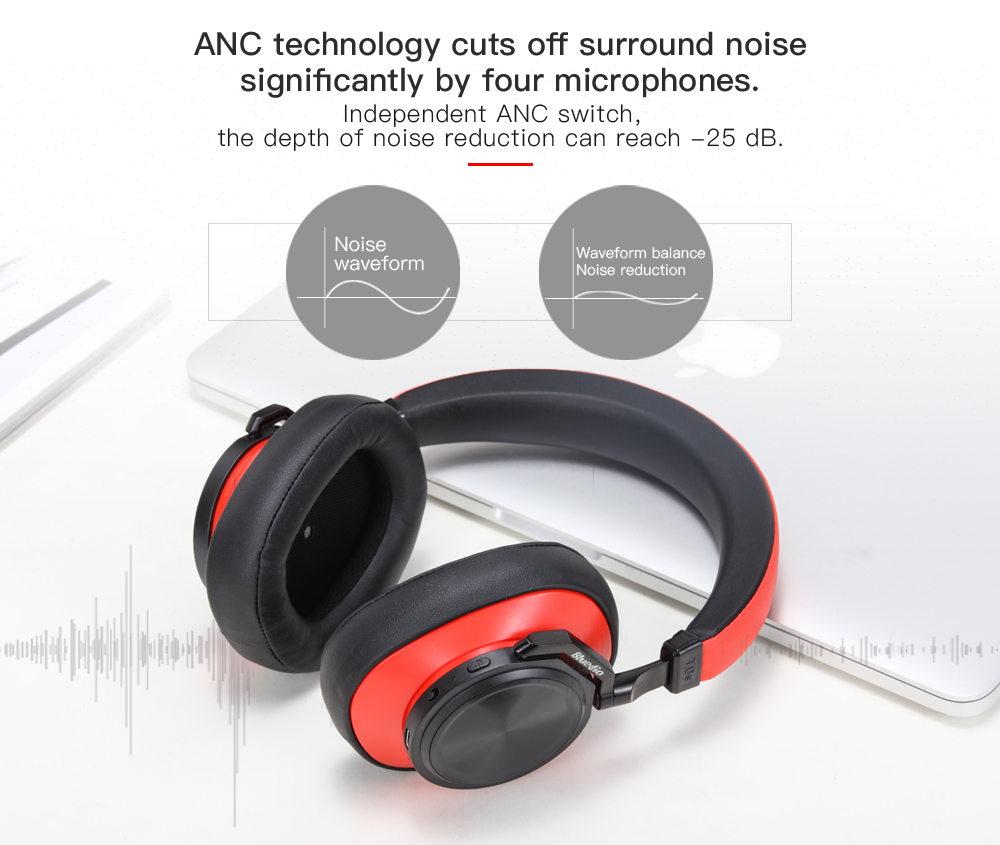 new bluedio t6s anc headphone