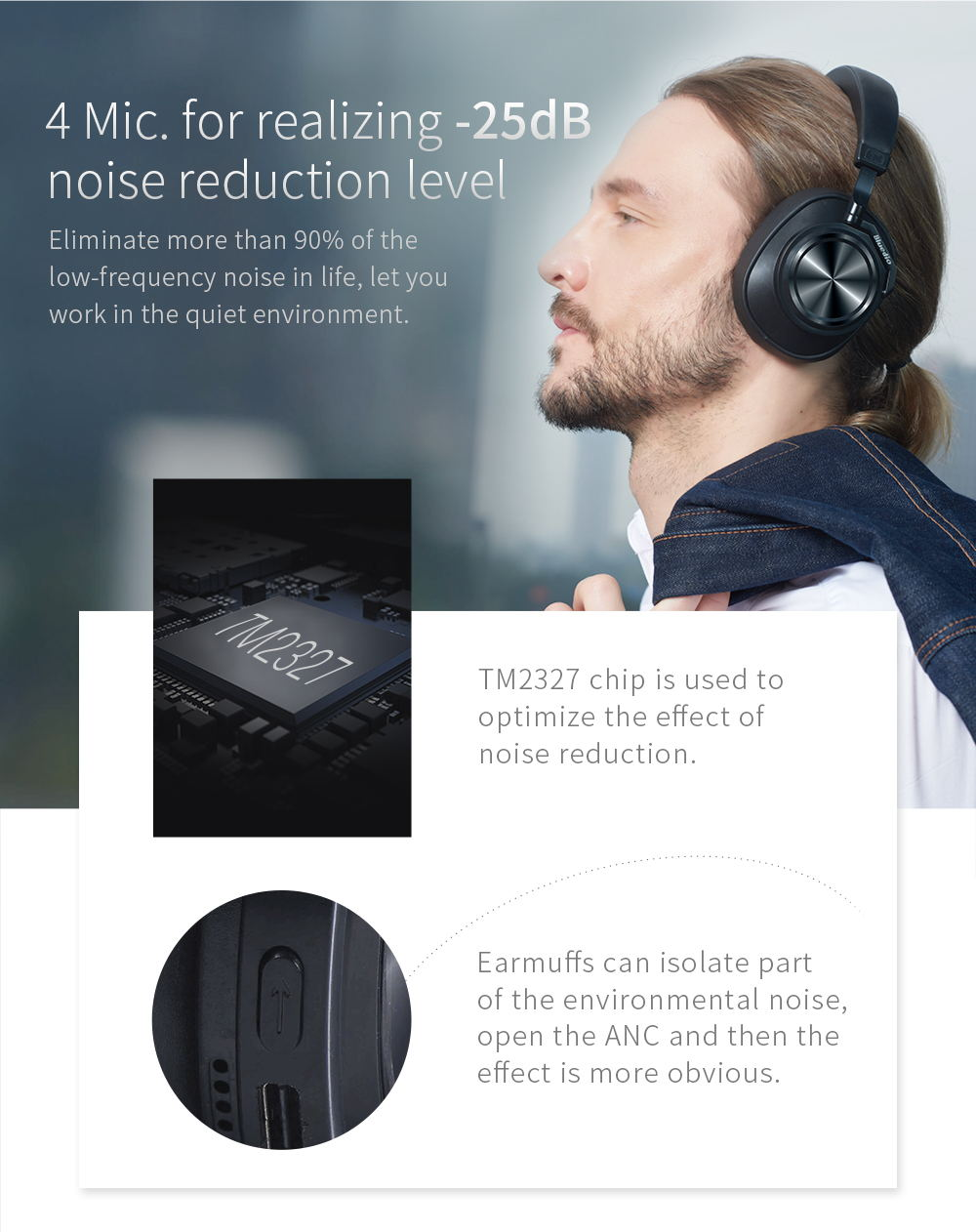 2019 bluedio t7 headphone