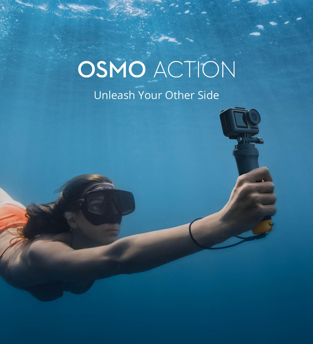 dji osmo action waterproof action camera