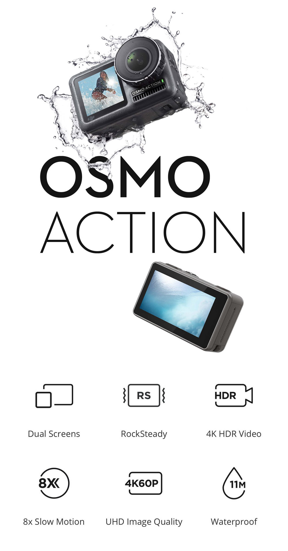 buy dji osmo action waterproof action camera