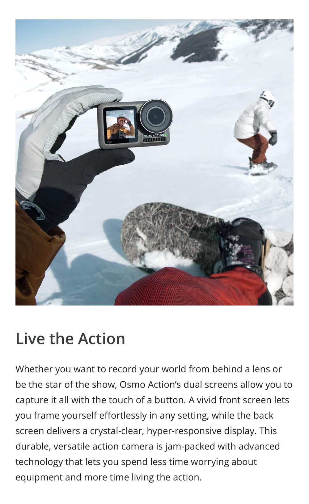 new dji osmo action waterproof action camera