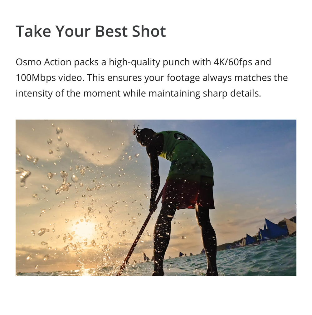 2019 dji osmo action waterproof action camera