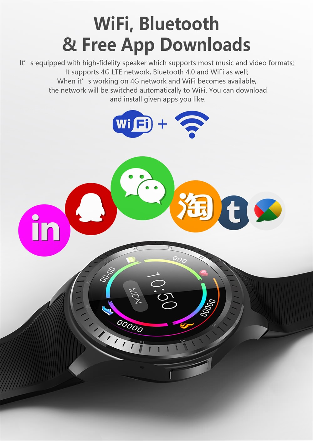 2019 dm368 plus 3g smartwatch phone