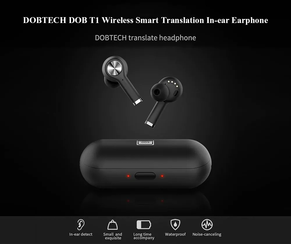 dobtech dob t1 smart translation earphone