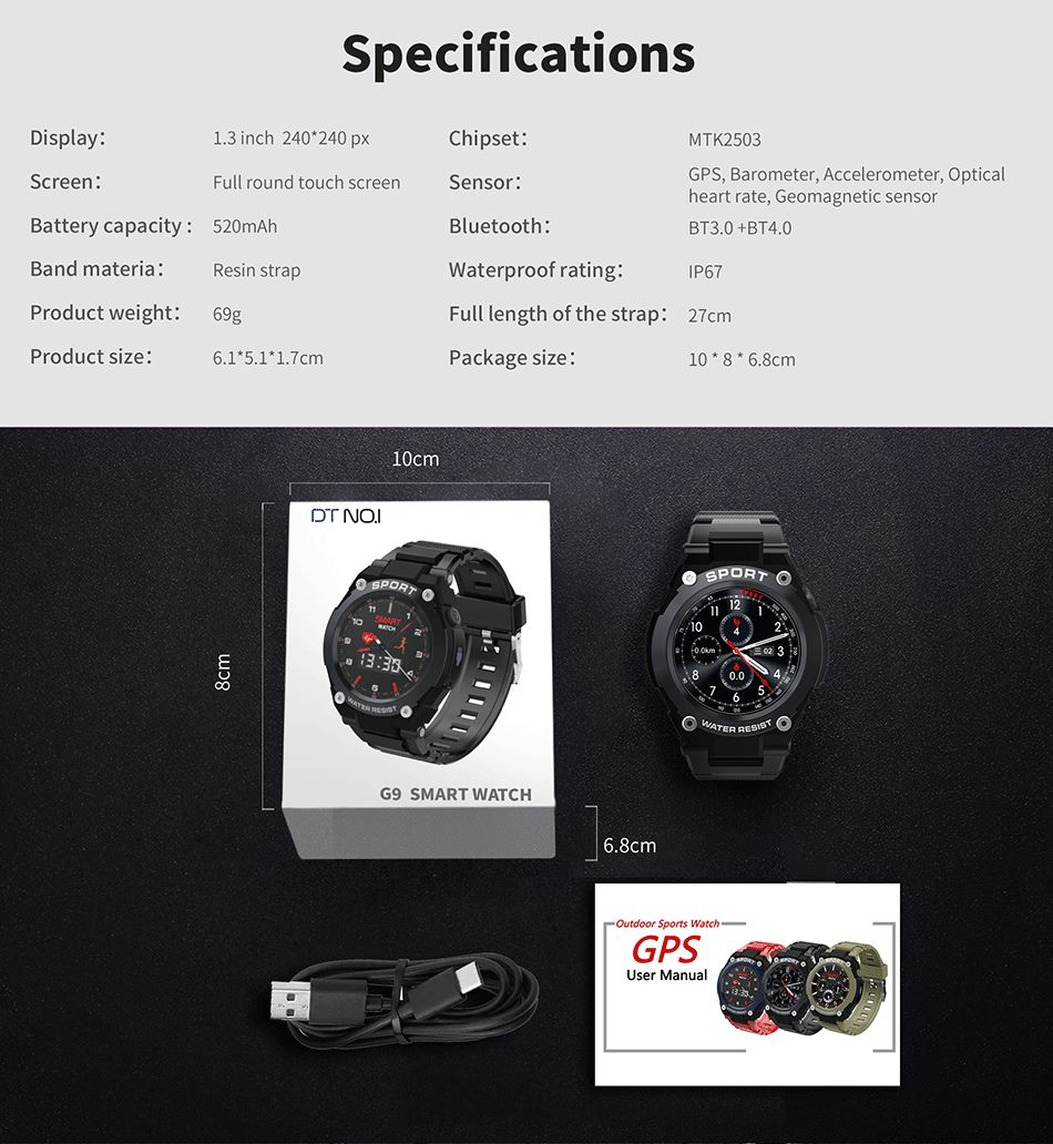 dt no.1 g9 smartwatch for sale 2019